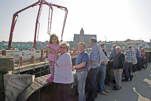 Hundreds of people from all over Cornwall travelled to Hayle to watch a major step forward in the development of the town